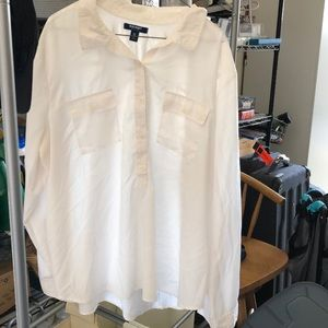 Old Navy White XXL Button Up Blouse